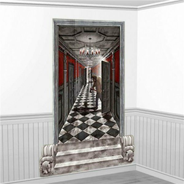 Halloween Long Gothic Hallway Add On 1.7m 2 pk